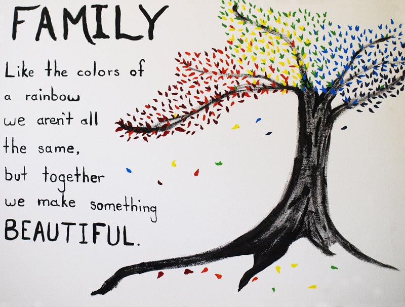 family colors of the rainbow